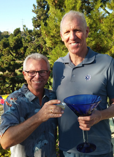 Photo of Bill Walton with Lion's President David Cain